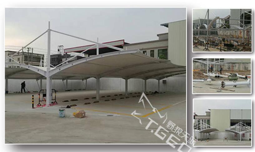 野狼天骄案例:潮州港华燃气集团大型停车棚